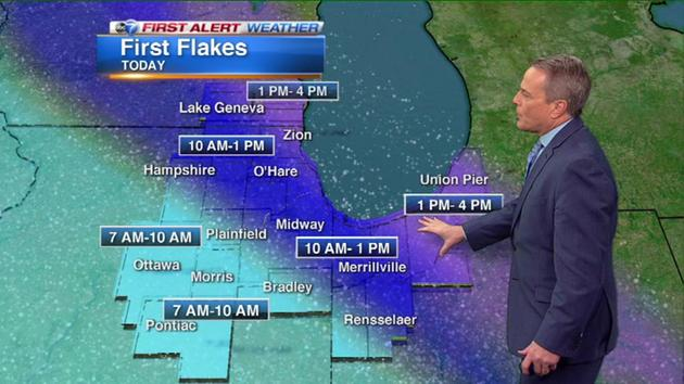 WEATHER: Snow will push through our area today - @SchwarzABC7 has more
