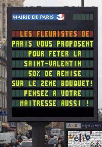 @FleursRungis les fleuristes de #Paris ont de l'humour ! #SaintValentin #amour