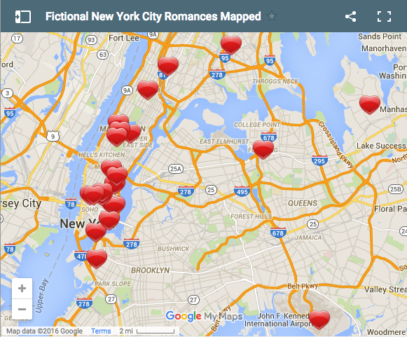 Happy Valentine's Day! Here's a map of literary love scenes in the city