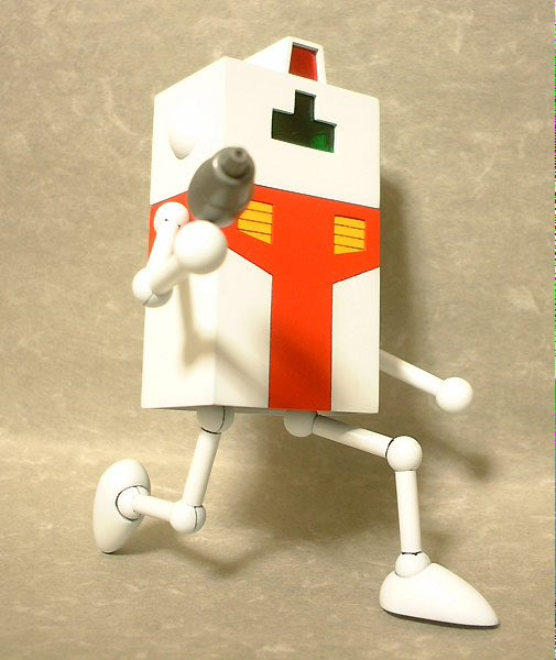 トニーたけざき氏の漫画に出てくる1/144?サムです。 プラ板等によるフルスクラッチですw  各部関節をフル可動で製作してます。  2008年製作。  #プラ板同盟