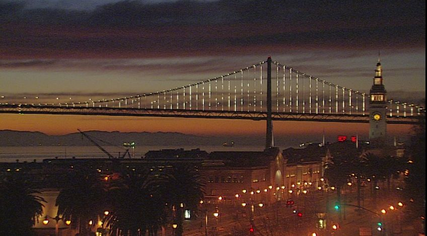 The baybridge compliments thismorning light, 69-78 today.