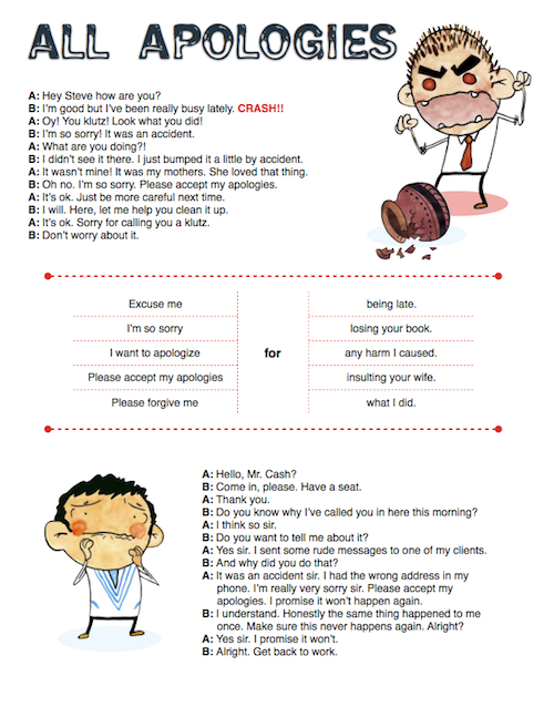 Mike on Twitter If you ever have to say your sorry for something – Forgiveness Worksheet