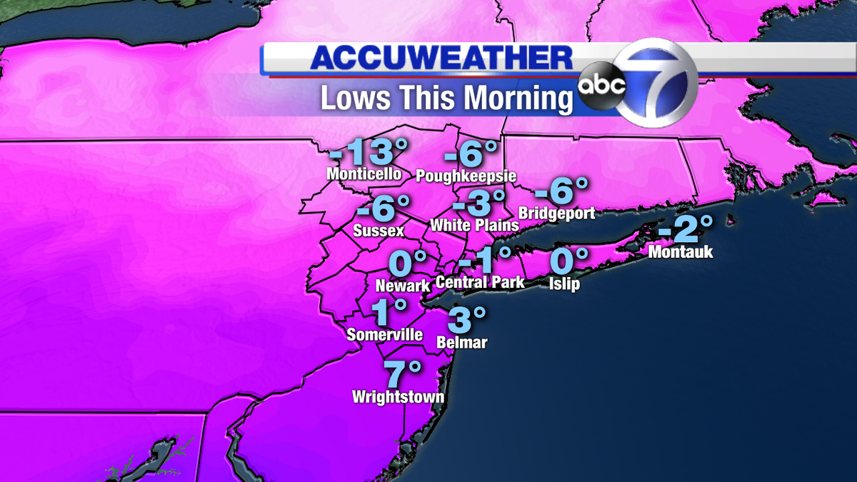 After the coldest day in more than 20 years in NYC, we're tracking some snow for tomorrow on abc7ny at 5.