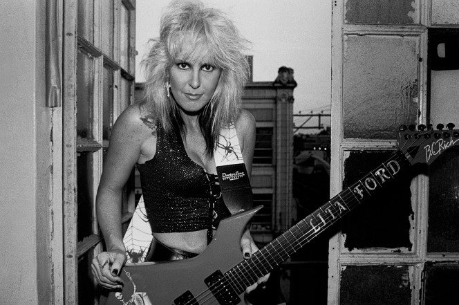 Lita Ford reveals her rendezvous with with Bon Jovi and Van Halen in her tell-all book