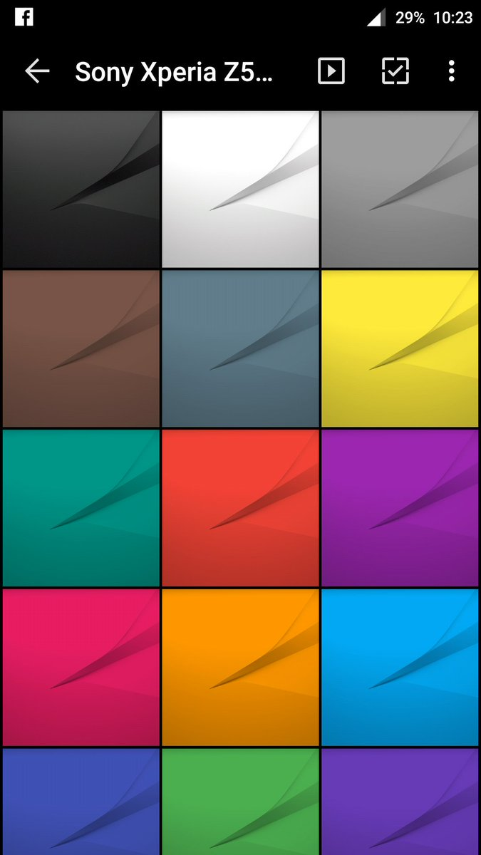 This is Xperia Z5's wallpaper pack