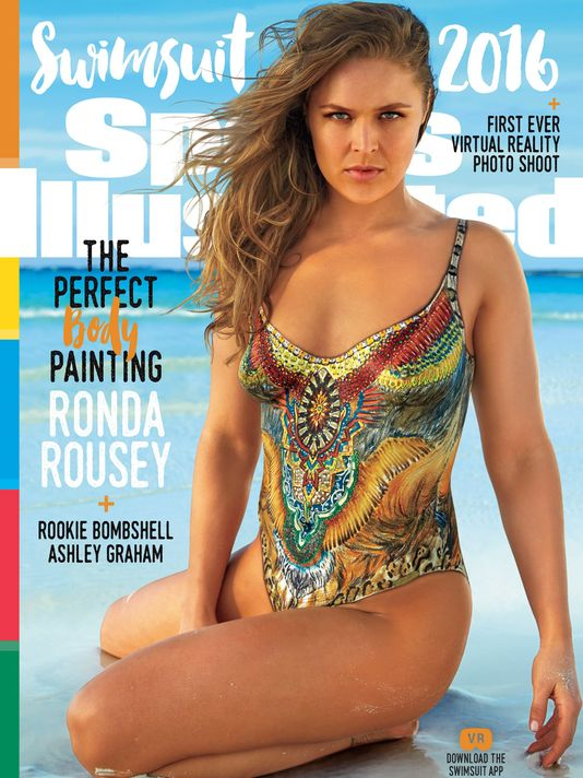 Ronda Rousey one of three SI Swimsuit 2016 covers