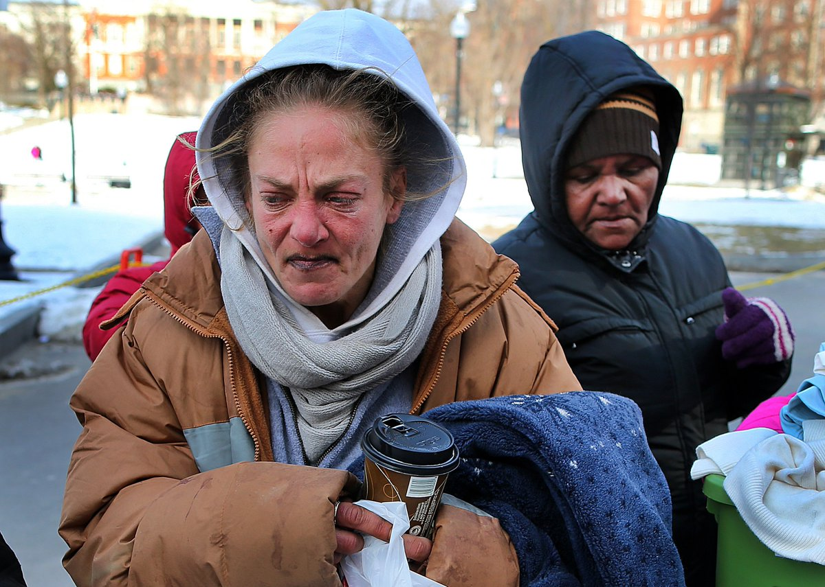 Even in bitter cold, some homeless refuse shelter