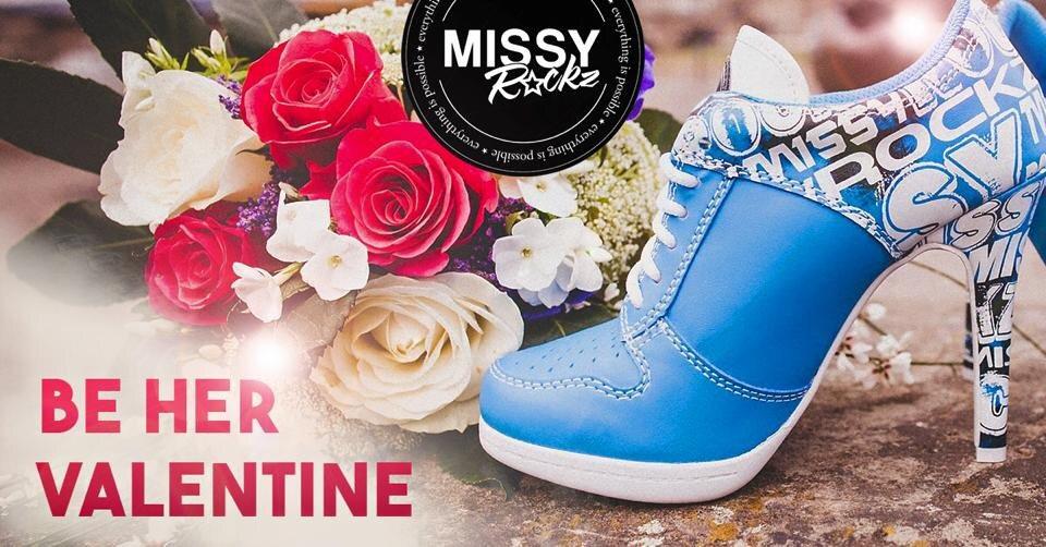 Missy ROCKZ Rose ROCKZ White//Red
