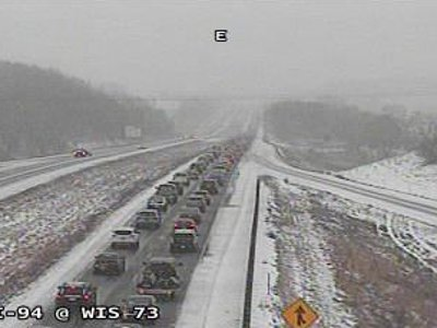 All lanes of I-94 WB closed at MM 253 in Dane Co. breaking