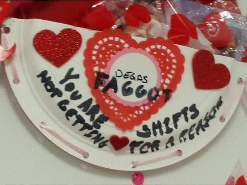 Homophobic slur on Edmonton youth's workplace Valentine triggers outrage