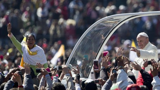 Pope Francis tells faithful in Mexico,
