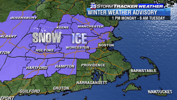 WEATHER ALERT: Winter Weather Advisory issued for areas northwest of I-95