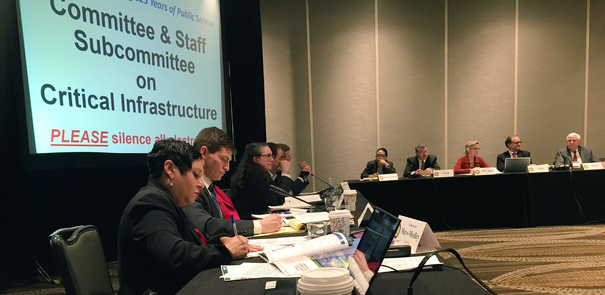 Big turnout to Critical Infrastructure Committee led by #IURC Vice Chair Mays-Medley #NARUCWinter16 #cybersecurity https://t.co/Kk6oOIOPbf