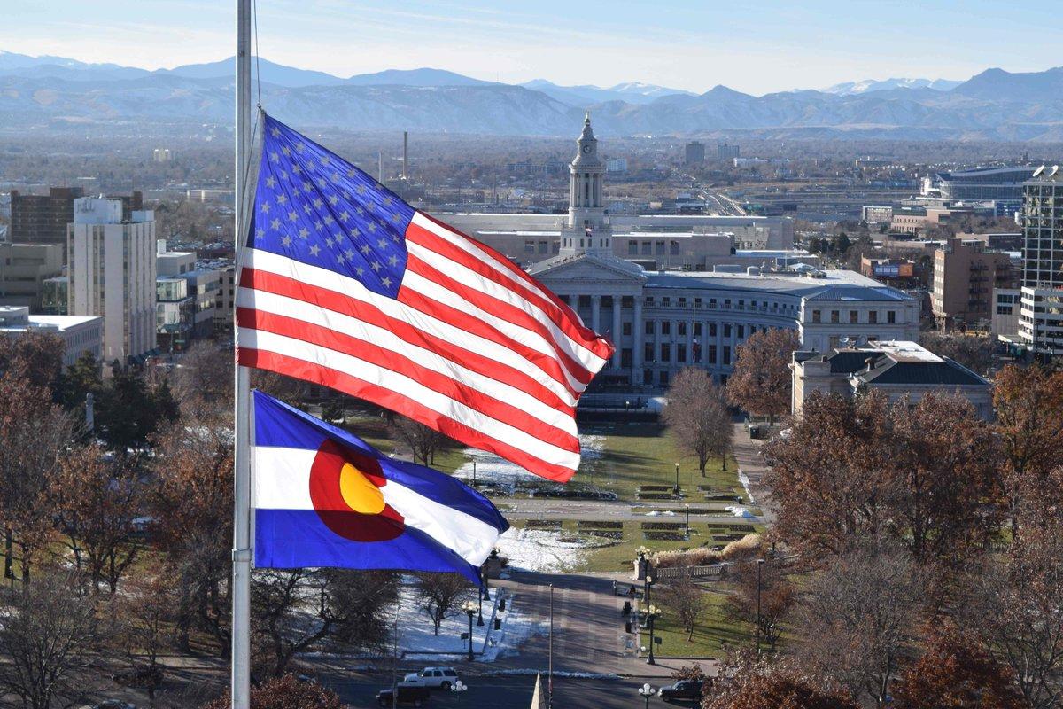 Flags are lowered statewide to honor Justice Antonin Scalia + Mesa County Deputy Derek Geer