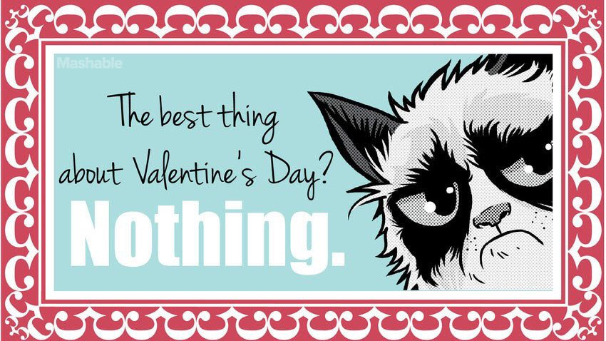 grumpy cat on twitter 18 grumpy cat valentines for your crabby companion httpstcoozon0vwmo3 via mashable httpstcozjoqwoiy9s