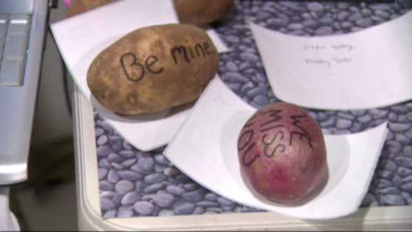Because nothing says 'I Love You' like...a potato?
