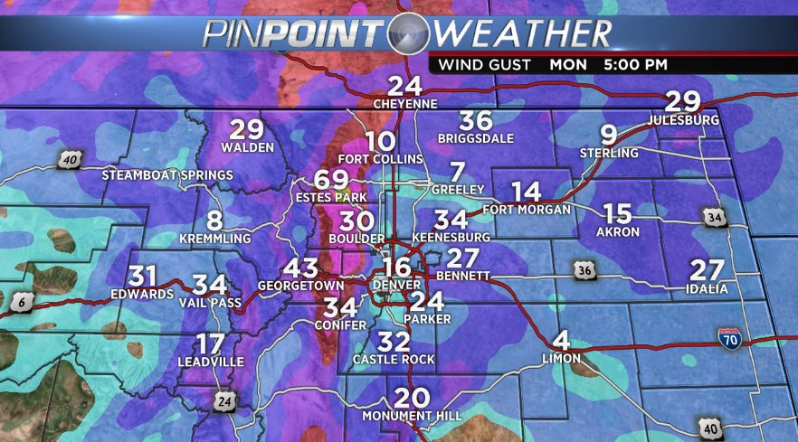 Winds will whip all through at least tomorrow afternoon. Windy periods expected at times this week as well.