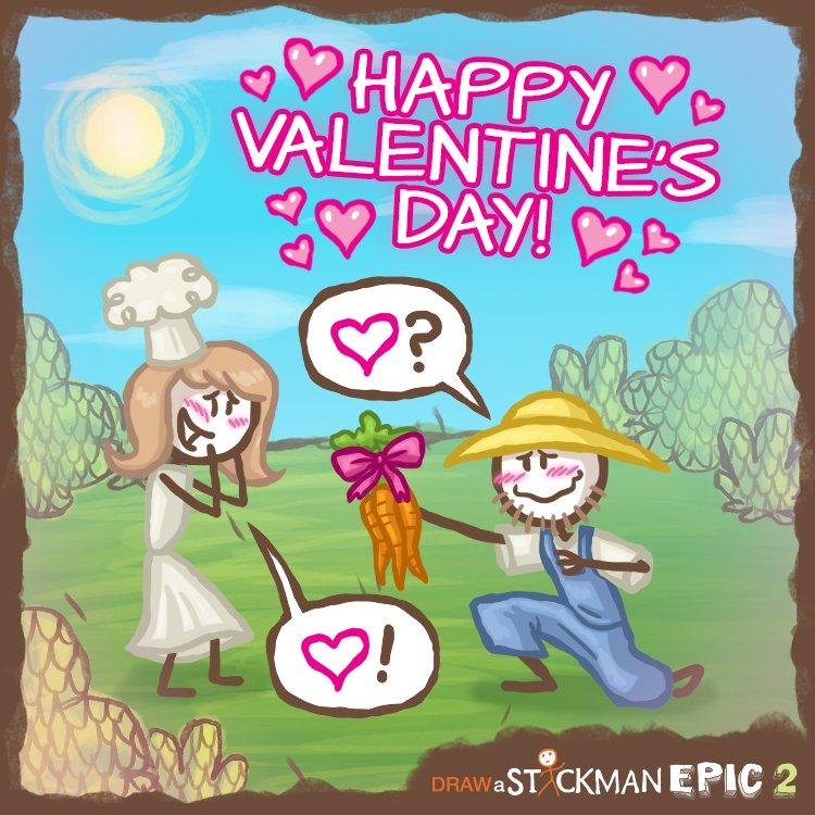 Draw A Stickman On Twitter Happy Valentine S Day 3 3 3
