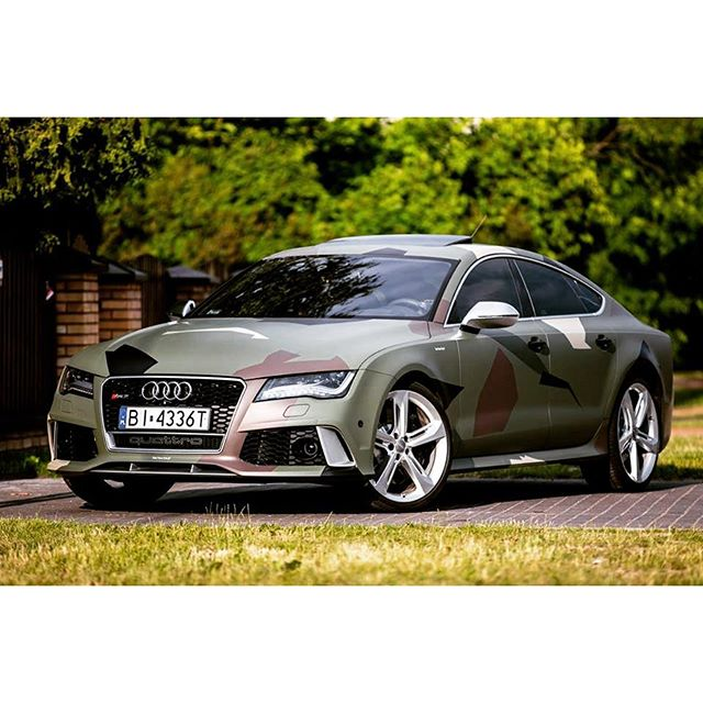 World News Here On Twitter Audi Rs7 Sportback In Camo Wrap Or