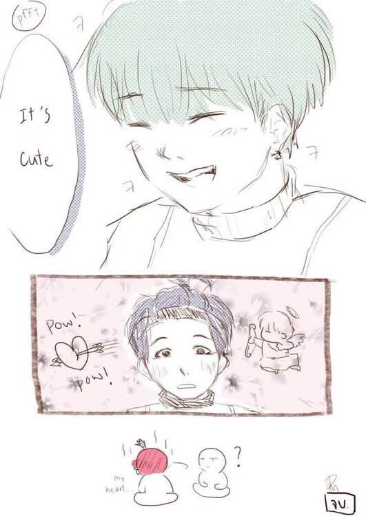 "GOLD on Twitter: ""GOOD MORNING ☀️ THIS TAEGI FANART IS SUPER CUTE ..."