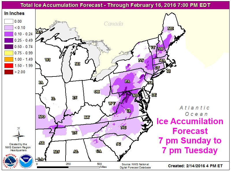 NWS Eastern Region On Twitter Storm Will Track Across The - Nws us regions map