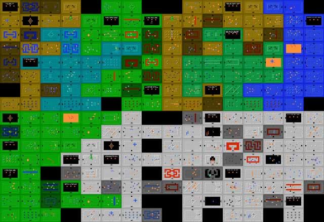 Zelda 1 Nes Map – HD Wallpapers