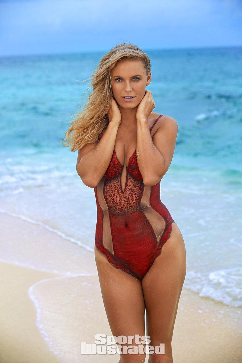 """: """"Caroline Wozniacki for 2016 SportsIllustrated Swimsuit, body paint ..."""