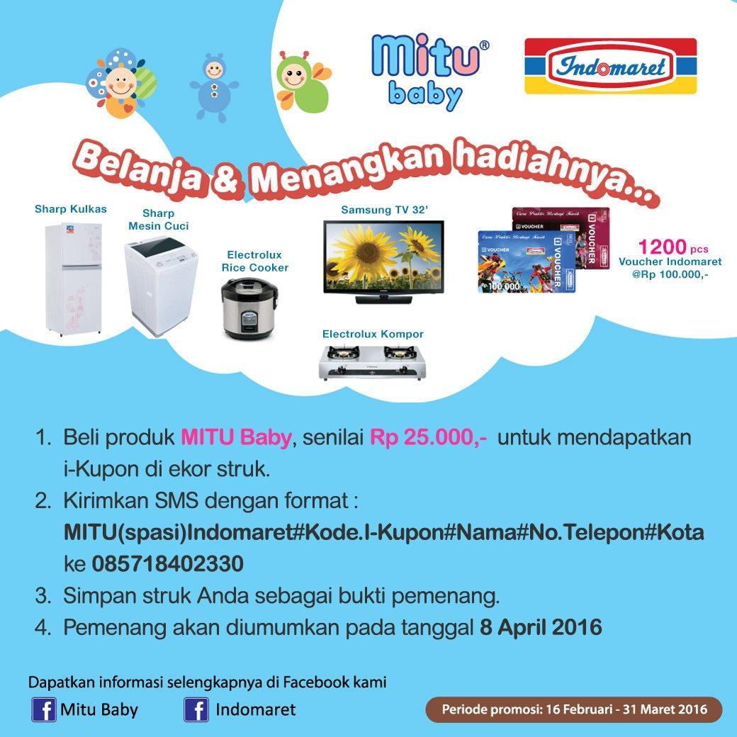 Indomaret On Twitter Menangkan Hadiah Kulkas Mesin Cuci Tv Atau Voucher Belanja Indomart 730 Pm 17 Feb 2016