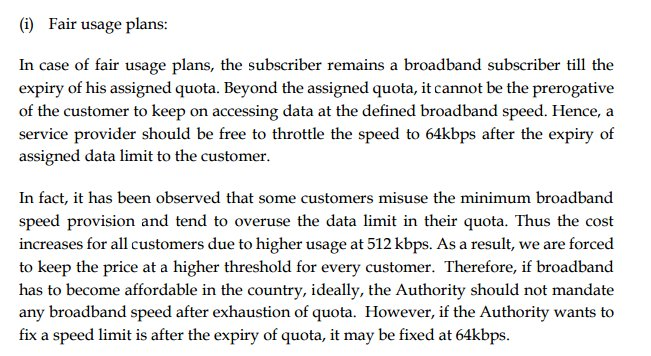 Airtel has suggested TRAI to reduce post-FUP speed to 64kbps because we're misusing all the 512kbps we get. https://t.co/adV9HTP2QR