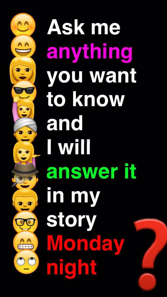 Ask me anything snapchat