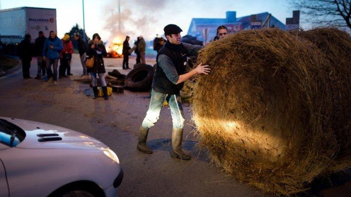Французские фермеры перекрыли улицы, протестуя против антироссийских санкций