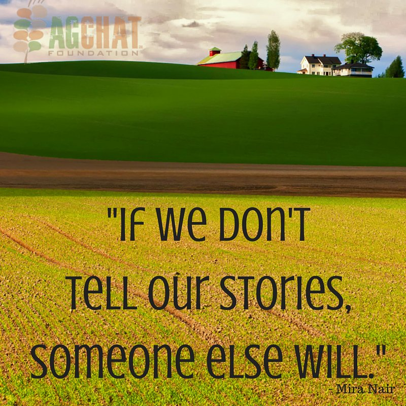 Tell your story. #AgChat https://t.co/ILPMmGU4cX