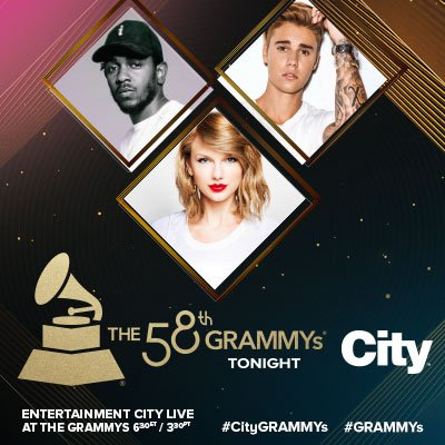 Performances by @Adele, @JustinBieber, @TheWeeknd at The GRAMMYs TONIGHT at 8E/5P/9M on @City_tv #CityGRAMMYs https://t.co/Tpdxir1HN3