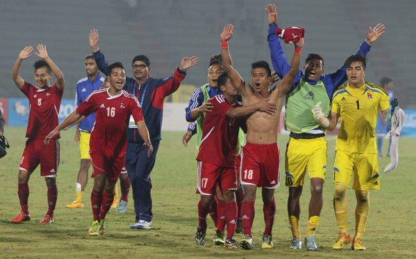 साग पुरुष फुटबलको फाइनलमा २३ वर्षपछि नेपालको ऐतिहासिक जीतः भारत १-२ नेपाल