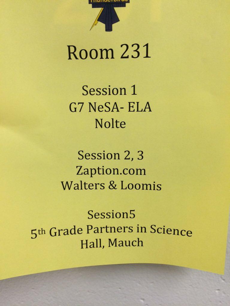 Zaption session 2&3 is in 231, not 326. #bpsne #tt4t https://t.co/DmrY9WDmdi