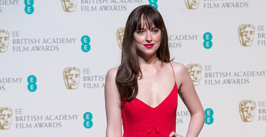 eb33fa0323 dakota johnson goes braless as she channels fifty shades of grey at last  night s baftas