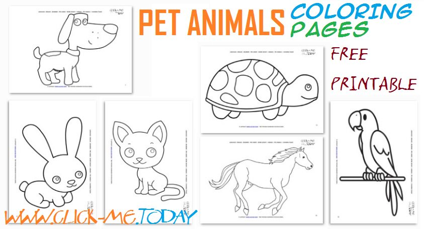 Click Metoday On Twitter Free Printable Pet Animals Coloring