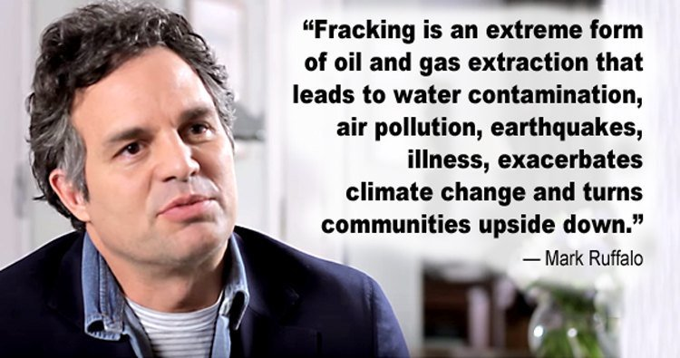 'There is no #fracking that can be done safely' https://t.co/e2MMyrYhBq via @EcoWatch @MarkRuffalo https://t.co/55g76bbjmk
