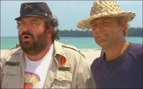 Bud Spencer e Terence Hill in uno dei loro tantissimi film