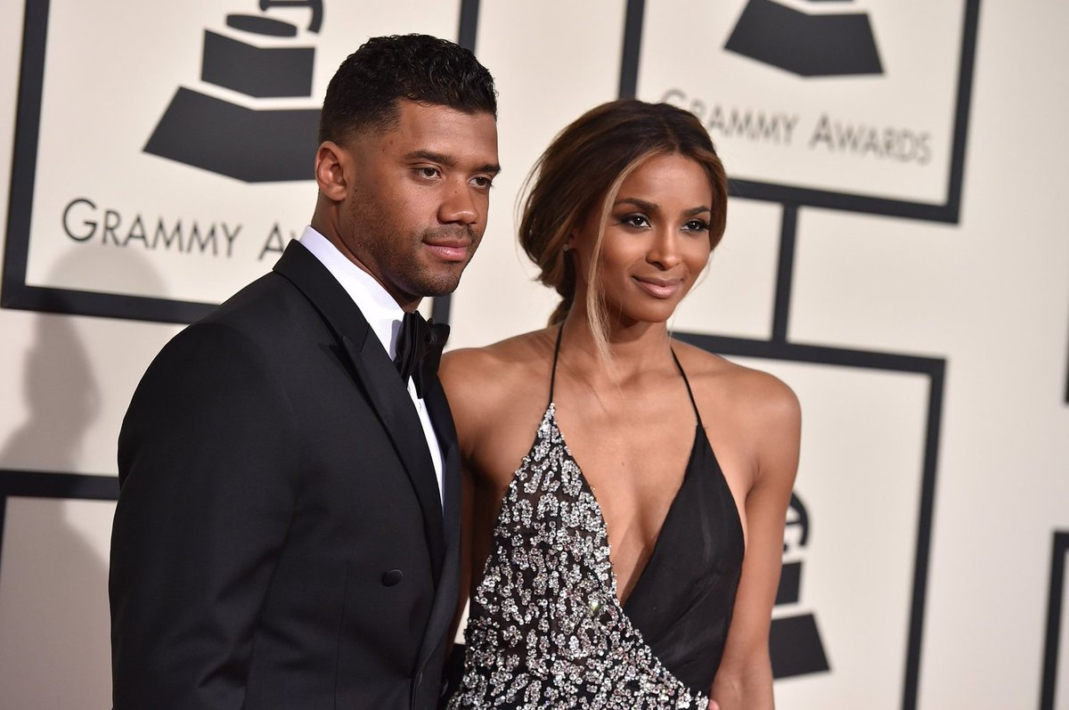Ciara and Russell WIlson have arrived at the #GRAMMYs https://t.co/P5e9C9E1aa https://t.co/pCcYWshLBs