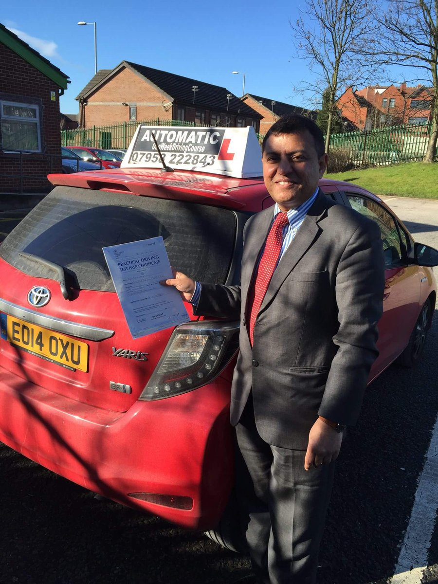 Congratulations Asif for passing your test #cheethamhilltestcenter #automaticdrivinglesson.com