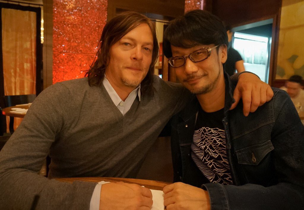 Reunion with Norman Reedus. Giving update about my own company. https://t.co/1yWMWWGT3q