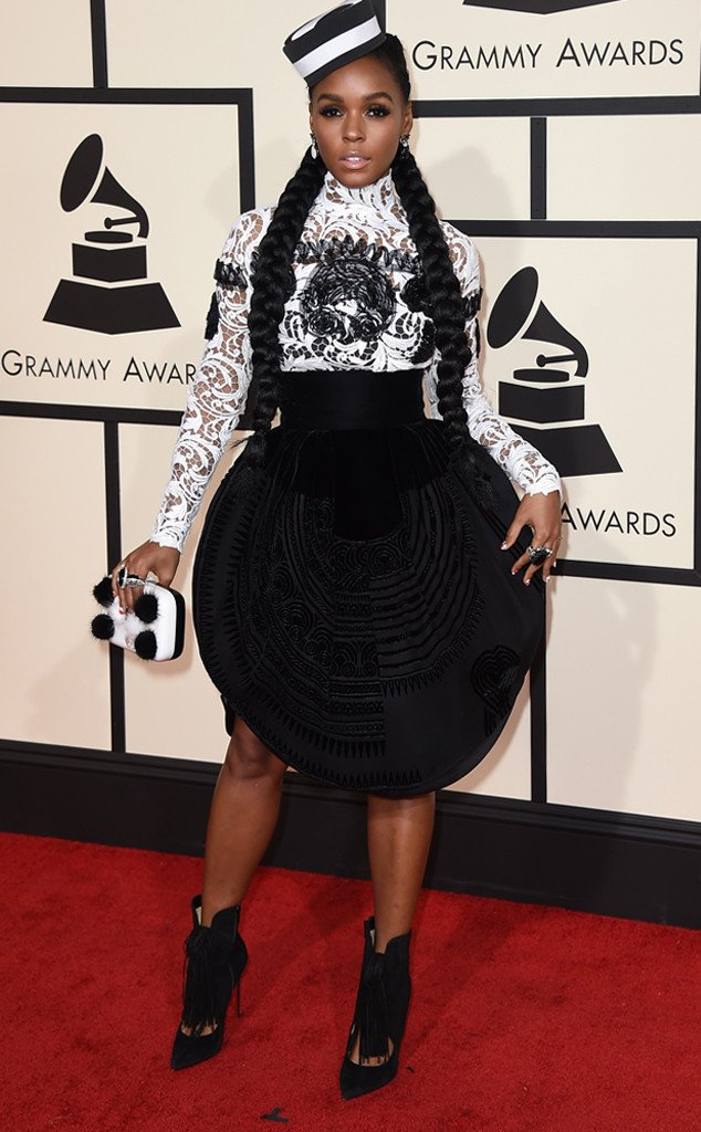 Yes Janelle Monae this look im so feeling. #Grammys https://t.co/VDXyyS09A9