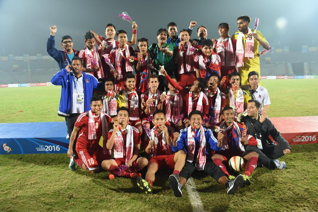 Nepal beat India 2-1 in #SAG men's football final 2016