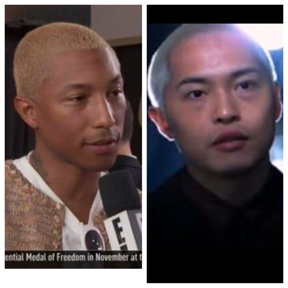 Pharrell out here looking like he just kidnapped Su-Yung https://t.co/1hs9CEklk3