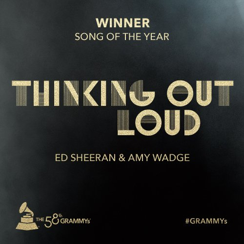 "Congrats Song Of The Year winner @edsheeran & @Wadge - ""Thinking Out Loud"" #GRAMMYs https://t.co/tSuf2KqqCo"