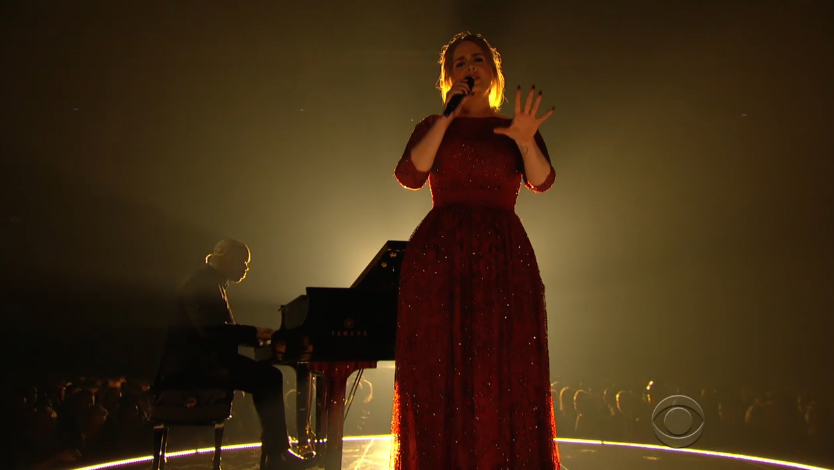 Adele reaching into your soul #Grammys