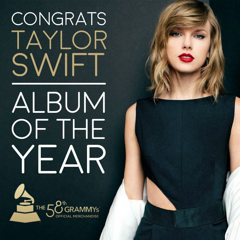 Congrats to @taylorswift13 on winning #AlbumOfTheYear with '1989'!! #GRAMMYs https://t.co/LOX2j8VGez