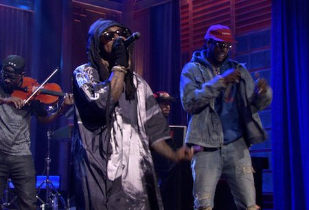 "Lil Wayne & 2 Chainz Premiered ""Rolls Royce Weather"" (Off Collegrove) On Tonight Show"