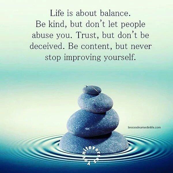 #QueLindoSeria Life is about balance #FelizMartes